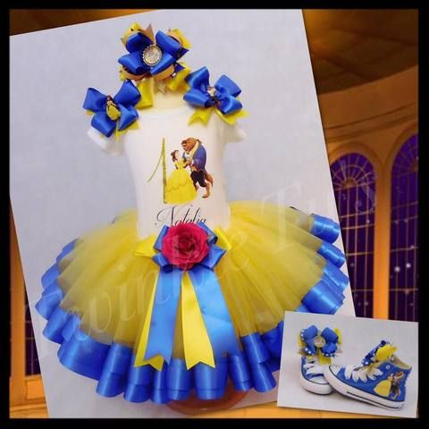 Belle Beauty and the Beast Birthday Tutu Outfit