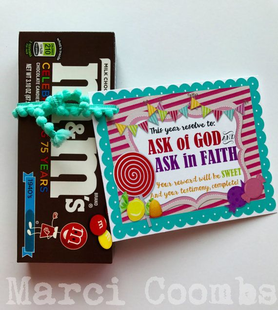 Instant Young Womens Birthday Tags Cards Ask In Faith Gift Lds Mormon Printable 2017 Mutual Theme
