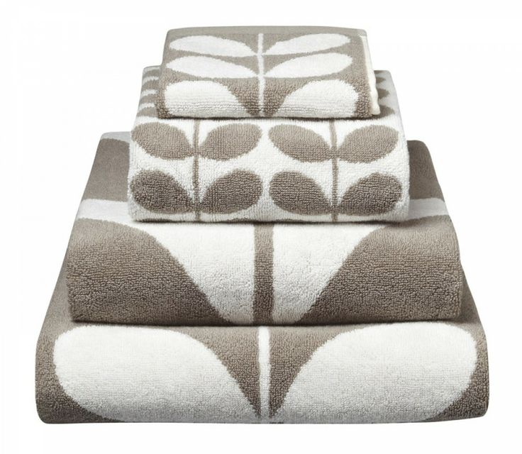 We love anything Orla Kiely, and these towels are no exception! From http://www.beddingco.com.au/orla-kiely-cotton-towels-stem-grey-white.html