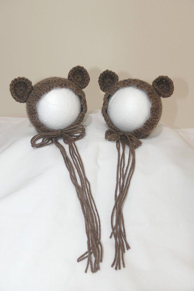 Photography Prop - Teddy ear bonnets SOLD
