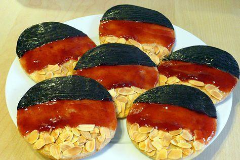 Schwarz-Rot-Gold-Amerikaner: Ein super Rezept für alle, die einen Deutschland-Snack oder ein Schwarz-Rot-Gold-Essen für die Fußball-EM oder WM suchen