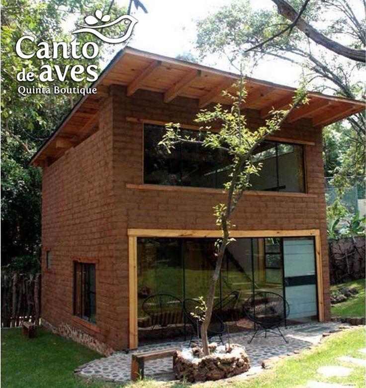 Caba as de adobe y madera sistema de tratamiento de aguas - Cabanas de madera pequenas ...