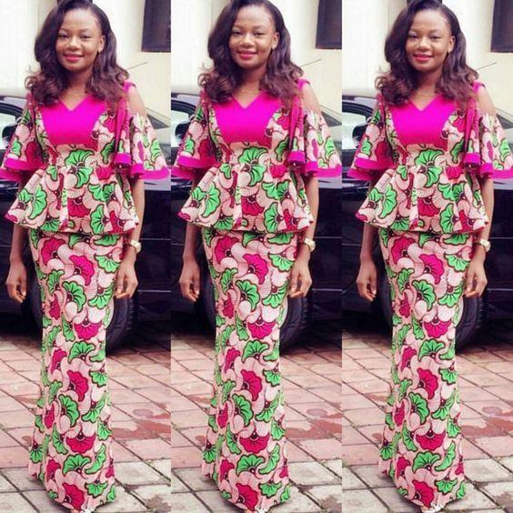 Creative Aso Ebi Skirt and Blouse Style - DeZango Fashion Zone