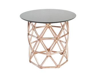 Geodesic Dome Table Copper & Glass