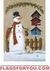 Snowman / Crackle House Flag