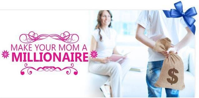 With Mother's Day being celebrated in most countries during the month of May – now is the time to give your mom the best Mother's Day present ever! Enter our Make Mom A Millionaire competition to make it possible for her to win not one but 5 FREE Mega Millions vouchers!  With this week's Mega Millions standing at a life-changing $105,000,000 you and your mom will be smiling all the way to the bank!  Play them at: http://ads.playukinternet.com/tracking.php/text/3113/11958/3368003/8547