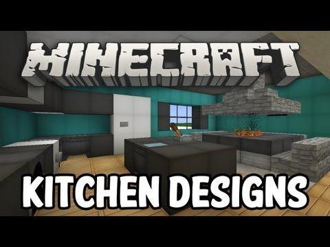 Minecraft Interior Design - Kitchen Edition - YouTube