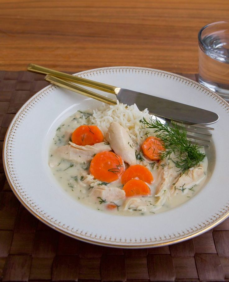 Kokt kyckling i dillsås - ZEINAS KITCHEN