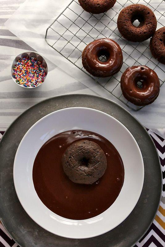 Double Chocolate Cake Doughnuts