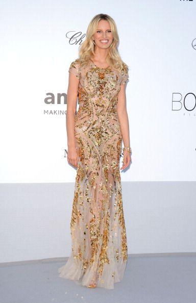 Karolina Kurkova in Cavalli at the Cannes Film Festival amFAR Gala #aids #benefit #model www.apparelnews.net: Cannes Film Festival, Fashion Blog, Golden Dress, Beach Styles, Beaches Style