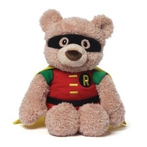 DC Comics Hardwin as Robin Stuffed Animal Plush Hardwin as Robin Stuffed Animal. Surface-washable for easy cleaning.  Manufacturer recommended age: 12 months – 5 years. http://awsomegadgetsandtoysforgirlsandboys.com/gund-superhero/ Gund Superhero: DC Comics Hardwin as Robin Stuffed Animal Plush