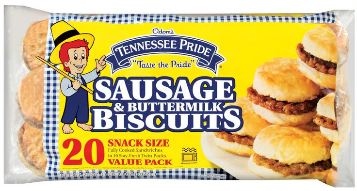 Odom's Tennessee Pride Sausage & Buttermilk Biscuits, Snack Size: 2 grams trans fat per serving (2 sandwiches)