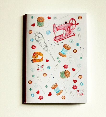 Hey, I found this really awesome Etsy listing at https://www.etsy.com/listing/187264415/sewing-notebook-cute-notebook