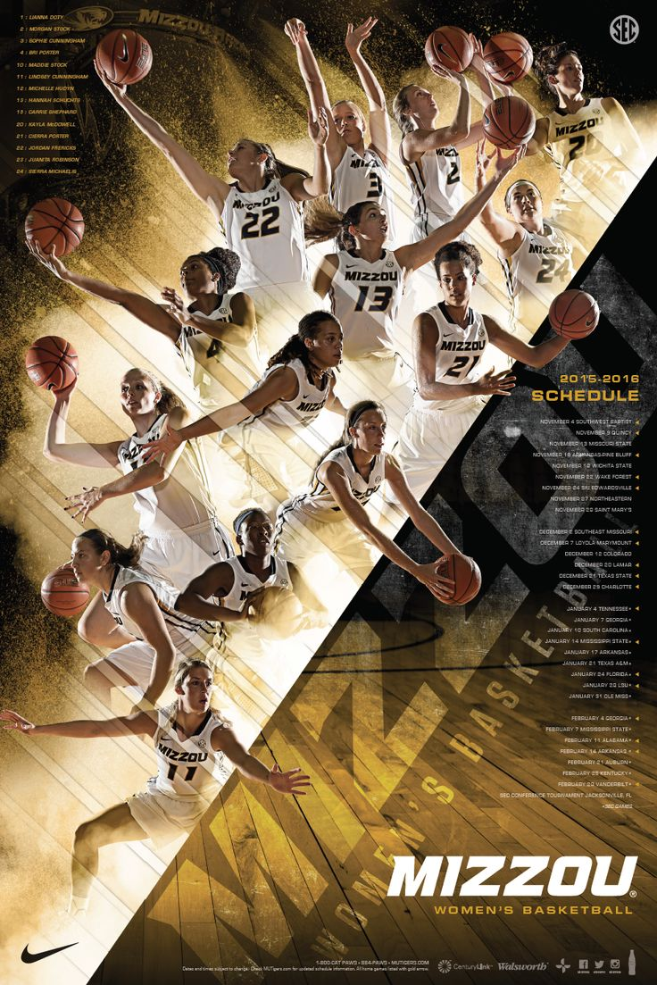 2015-2016 Missouri Women's Basketball Poster