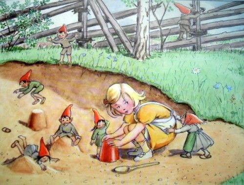 Elsa Beskow born Stockhlom (1874-1953) is a Swedish author and illustrator of children's stories . She knew very early a great success