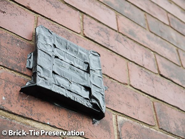image of blocked external kitchen vent causing condensation and mould