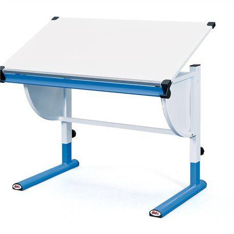 Schüler-Schreibtisch Cetrix weiß/blau