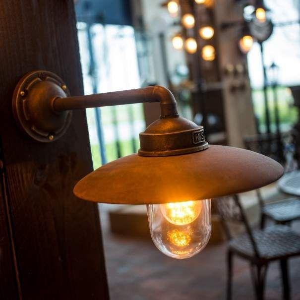 Stallamp Palazzo Brons Koper Kust Zee