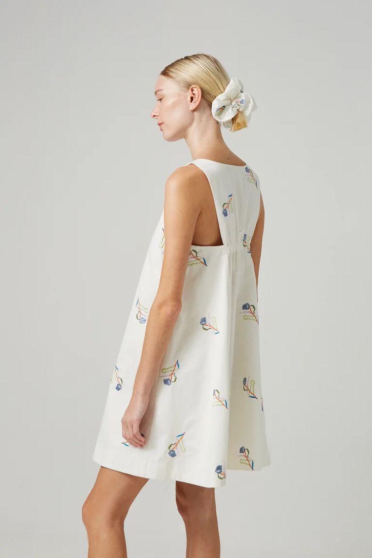 Liberty cotton embroidered shift dress shift dress