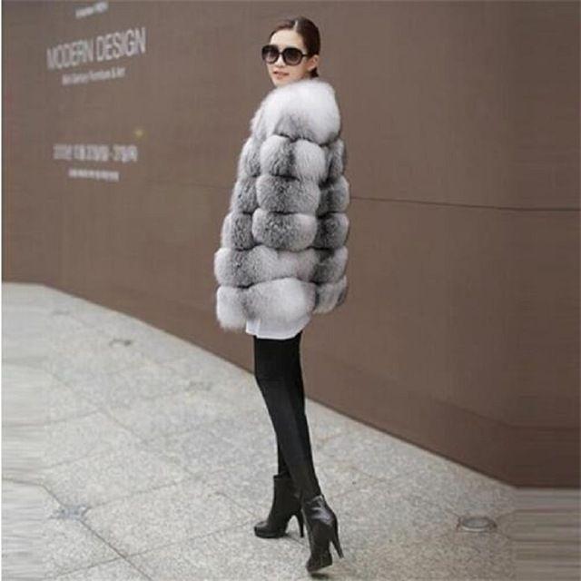 2016 hiver nouvelle imitation renard manteau de fourrure de vison Moyen-Orient de luxe femmes long manteau en fausse fourrure manteau femmes robe grande taille 6XL