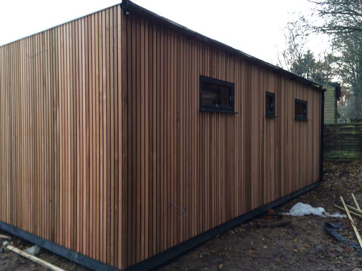 Open Boarded Cedar Cladding On Studio Hants