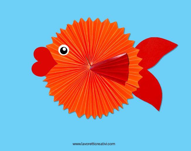Questo pesce di carta è semplicissimo da realizzare. I bambini si…