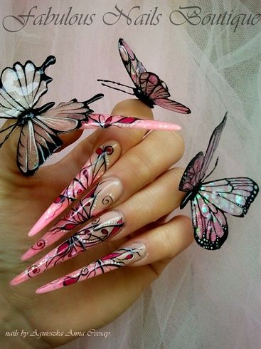 HANDMADE BUTTERFLIES by Agusia - Nail Art Gallery nailartgallery.nailsmag.com by Nails Magazine www.nailsmag.com #nailart