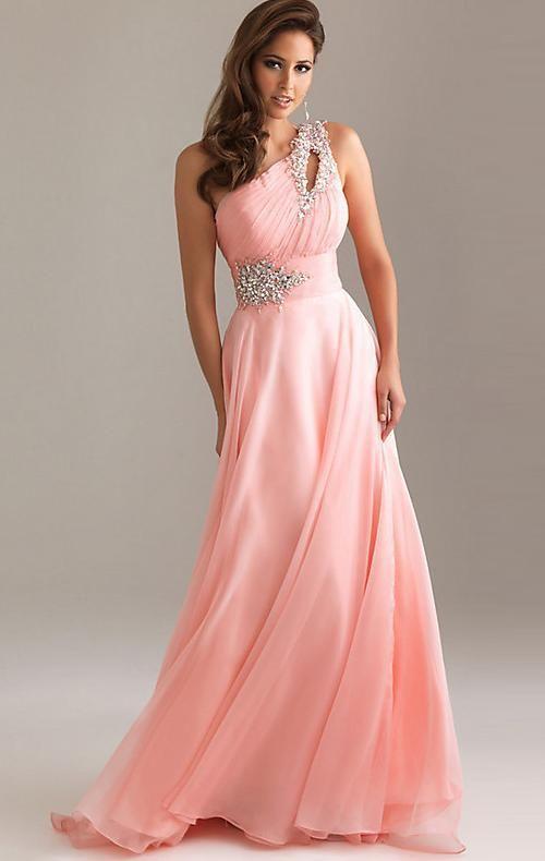vestido de festa longo roze lange formele avondjurken 2015 nieuwe aankomst een schouder chiffon jurk de soiree abendkleider ol330 in  van harte welkom om onze winkelvestido de festa van ' s avonds jurken op AliExpress.com | Alibaba Groep