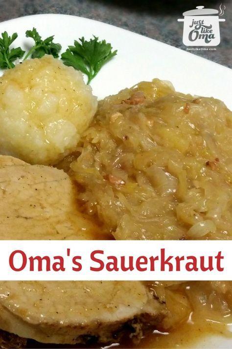 Delicious German Sauerkraut, http://www.quick-german-recipes.com/recipe-for-sauerkraut.html, done the German way!