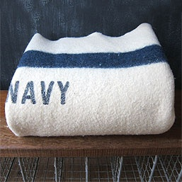 vintage wool navy blanket (from 3 potato 4): Navy And White, Navy Blankets, Wool Blankets, Navy Wool, Blankets Circa, United States Navy, Wool Navy, Vintage Navy, Navy Blue
