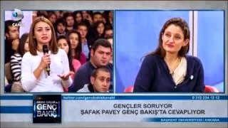 CHP Genel Başkan Yardımcısı İstanbul Milletvekili Şafak Pavey Abbas Güçlü ile Genç Bakış'ta, Başkent üniversitesi öğrencileri ile gündemi tartışıyor... Yerel seçimler, başörtüsü serbestisi, yeni anayasa çalışmaları, çözüm süreci, Başbakan'ın öğrenci evleri çıkışı...