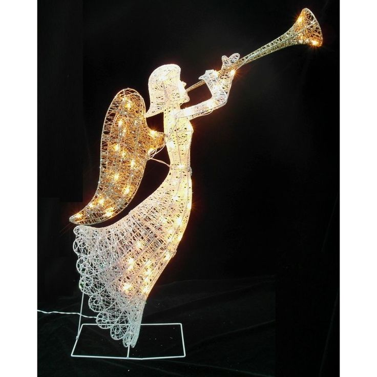 Christmas angel outdoor decoration holiday yard light up for Angel outdoor decoration