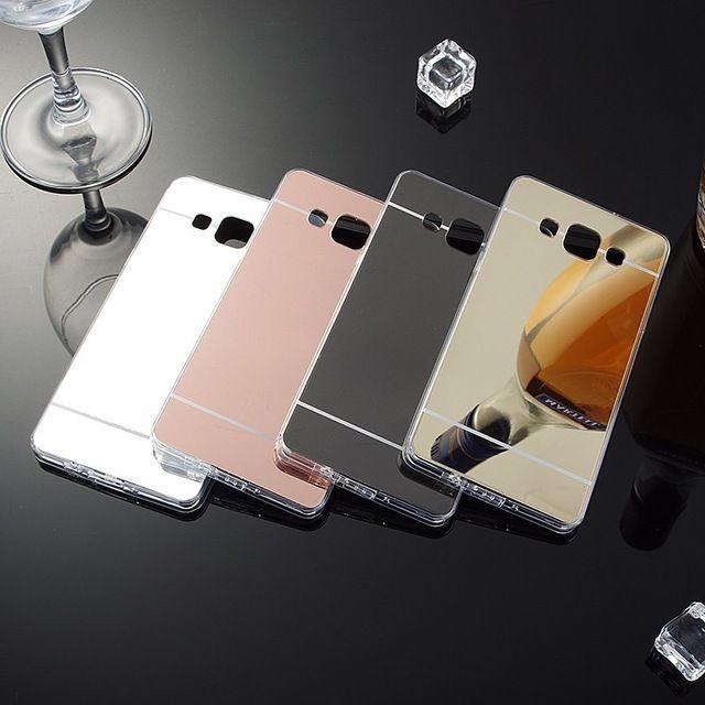 Placage Miroir Case Souple TPU Couverture Arrière Pour Samsung Galaxy A3 A5 A7 2016 J3 J5 J7 S4 S5 S6 S7 Bord Plus Grand Prime Téléphone cas