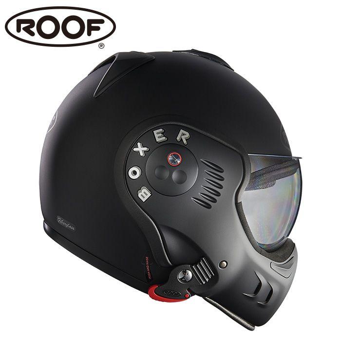 【正規販売店】フランスを代表するヘルメットメーカー「ROOF」。【ルーフ/ROOF】BOXER V8 FULL BLACK ボクサー フルブラック システムヘルメット バイク 【送料無料】 ギフト