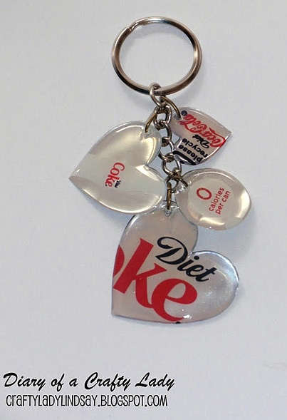 Art DIY Soda (Pop) Can Key Chain tutorials-to-do