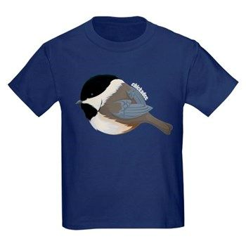 Chickadee Kids Dark T-Shirt from cafepress store: AG Painted Brush T-Shirts. #chickadee #kids #tshirt