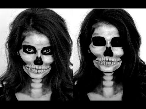 Skeleton Halloween Makeup Tutorial - YouTube
