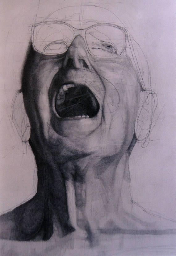 Martin Palottini, Now come here and kiss my mouth, Pencil on paper 100 x 70 cm.
