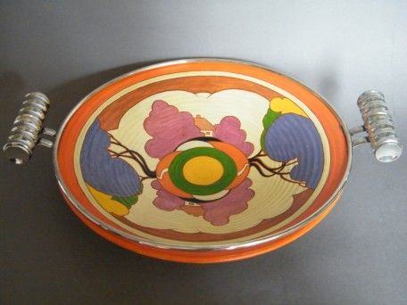 #1158   Hand Painted Brentleigh Ware Art Deco Bowl, circa 1935
