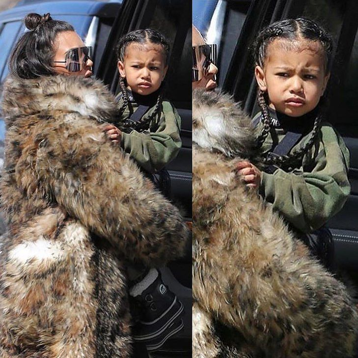 Dear Sweet Baby North West star of her very own modern day 'Truman Show' was spotted out and about rocking her baby Hairs on Fleek and her Hair Extensions whilst in the arms of her Mama! 'No pictures please!'  Kim recently expressed her own missing for her baby hairs of yesterday as she got them laser removed! Thoughts? #NorthWest #KimKardashian #NoriWest #BabyHairs #BabyBawse #TheTrumanShow #NationalTreasure #NorthDeserves #BabyNoriGotTheAnswers #BabyYe  #NoPicturesPlease #KUWTK #KUWBN…
