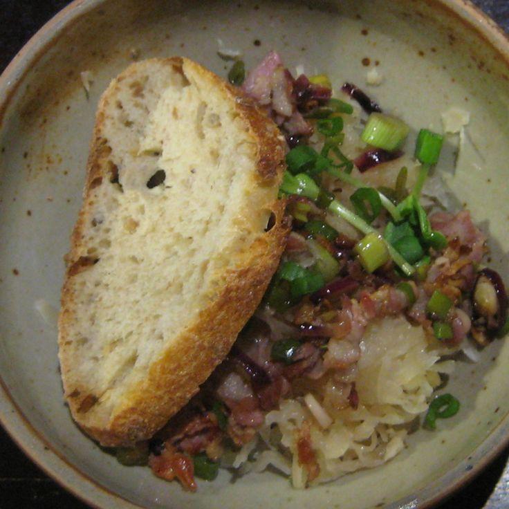 Sauerkrautsalat mit Speck