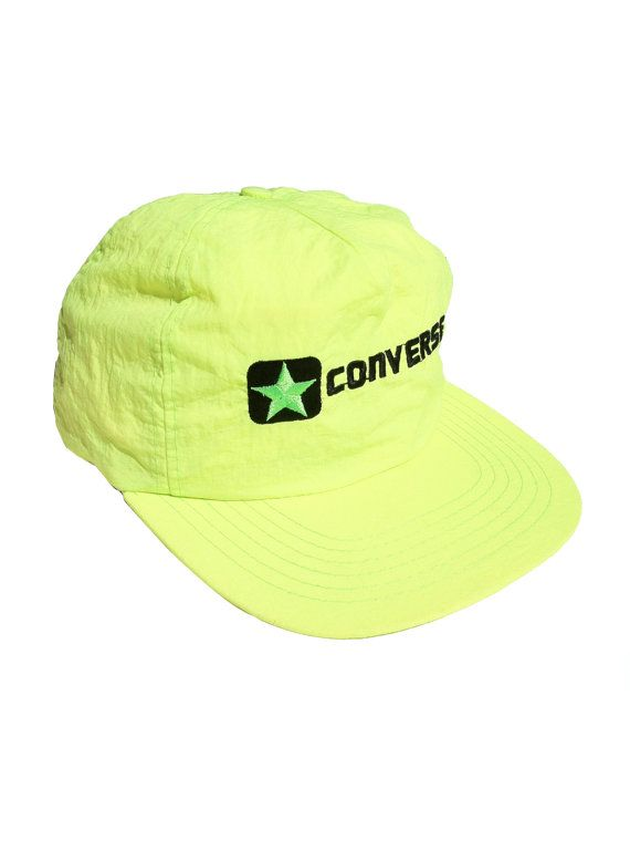 Rare 80s Embroidered Neon Converse Snapback by NeonStockyards