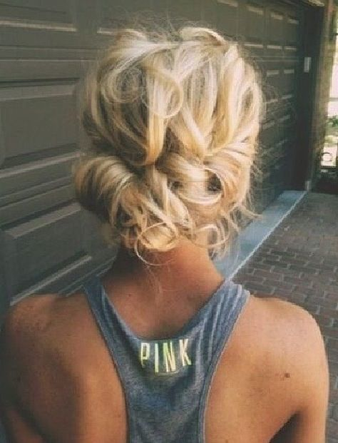 Messy low bun (prom) | Hairy bitches | Pinterest