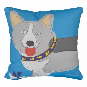 For the love of corgis! 12x12 pillow, 100% cotton twill, invisible zipper, with or without faux-down insert. Order now: http://troskodesign.com/shop/throw-pillow-corgi-made-in-usa/