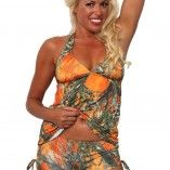 True Timber Orange Tankini Set