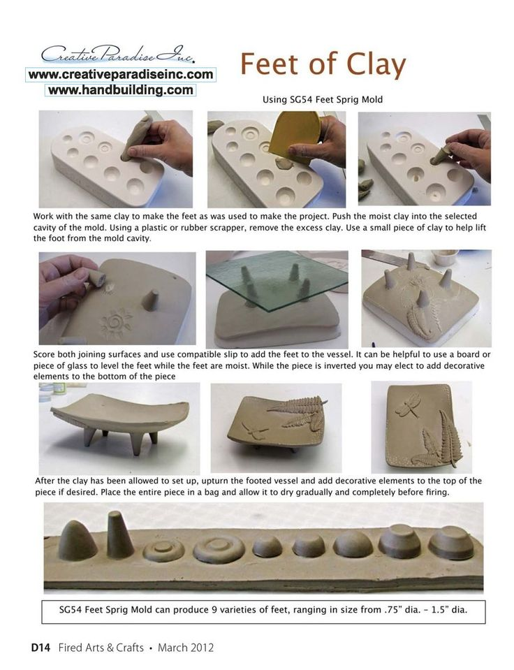 Fired Arts & Crafts Digital Edition - March 2012. Using a sprig mold for feet
