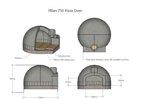Pizza Oven Projektowanie, opalany drewnem piec do pizzy cegły i projektowanie