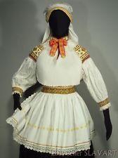 SLOVAK FOLK COSTUME finely embroidered blouse apron kroj Zliechov vintage ethnic