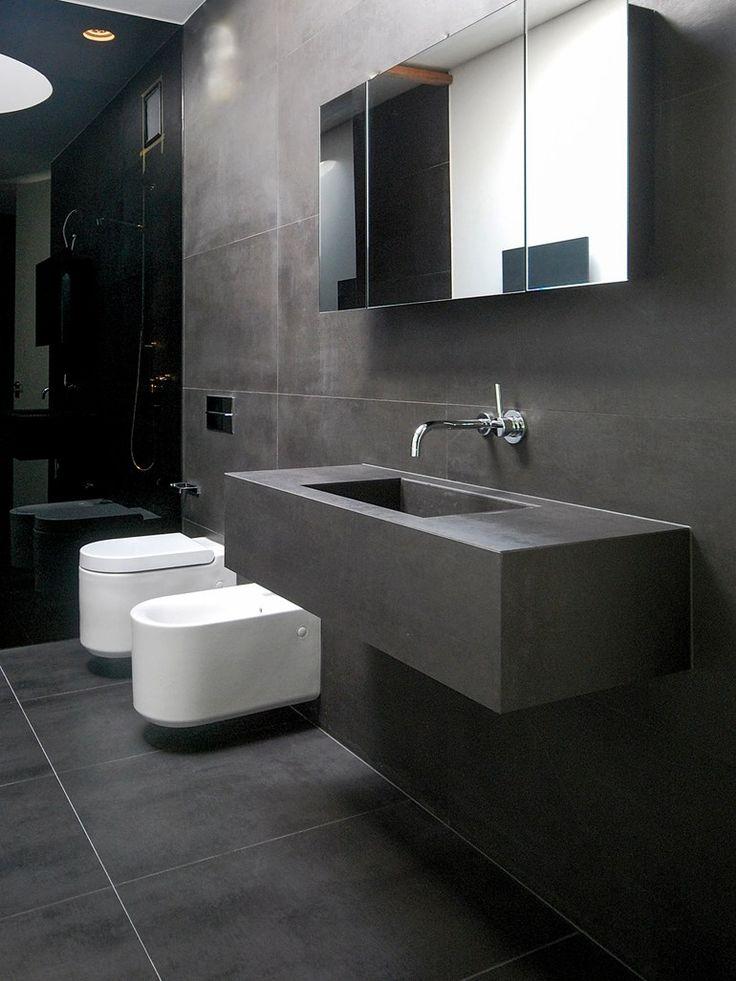 Full-body porcelain stoneware wall/floor tiles 120 concrete by dsgceramiche