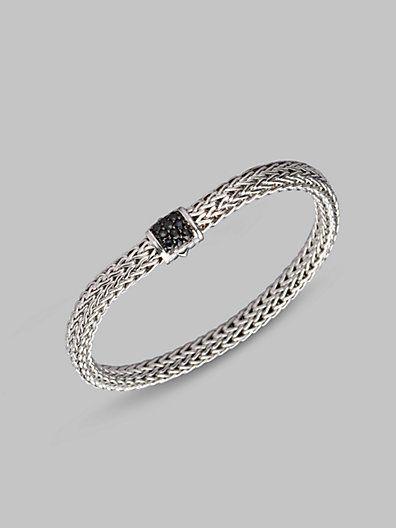 John Hardy - Black Sapphire & Sterling Silver Small Bracelet - Saks.com